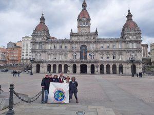 Marcha mundial: el Equipo Base internacional visitó A Coruña