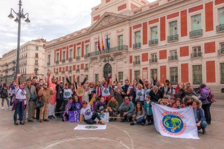 March 8: The 2nd World March for Peace and Nonviolence ends its journey in Madrid