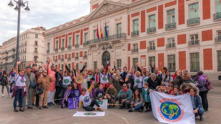 8 marzo: La 2ª Marcha Mundial por la Paz y la Noviolencia concluye su recorrido en Madrid