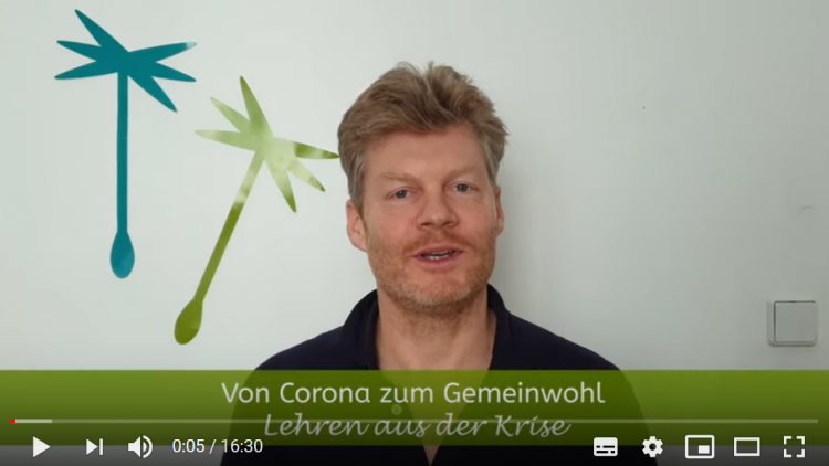 Christian Felber im Vlog: Von Corona zum Gemeinwohl
