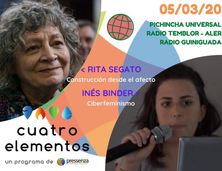Cuatro Elementos del 05/03/2020 Preparándonos para el 8 de Marzo con Rita Segato e Inés Binder