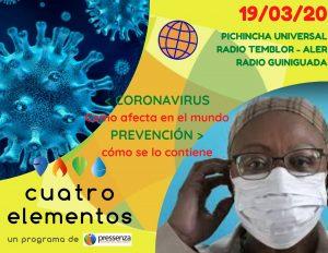 [RADIO] Coronavirus en el mundo en Cuatro Elementos del 19/03/2020