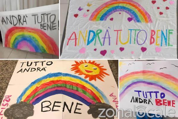 #andratuttobene: spuntano gli arcobaleni del buon augurio