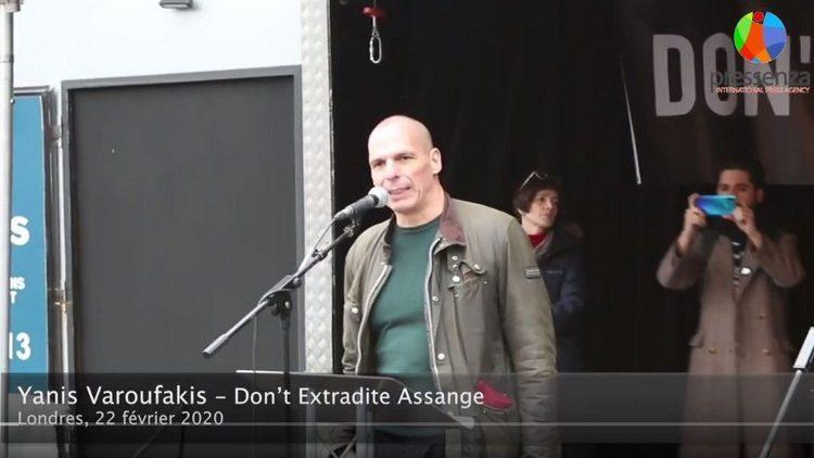 Don't Extradite Assange : le message de Yanis Varoufakis