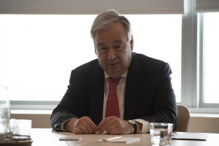 Antonio Guterres, SG Naciones Unidas pidió hoy alto al fuego mundial