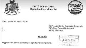 Pescara pianterà un albero per ogni bambino mai nato