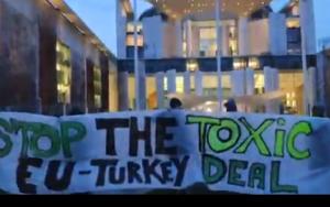 Βερολίνο: διαδήλωση αλληλεγγύης στους πρόσφυγες