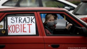 Poles protest stricter abortion laws amid coronavirus lockdown