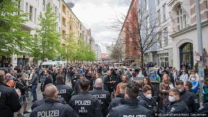 Germans protest coronavirus restrictions in Berlin, Stuttgart