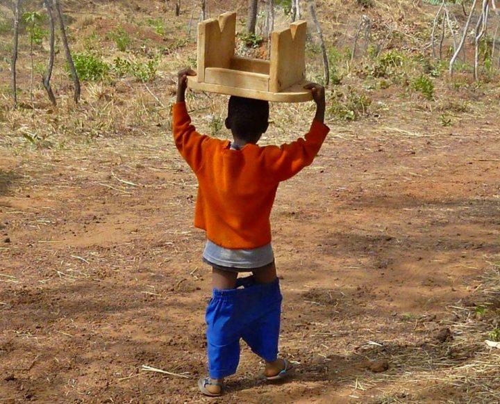 Bambino del Burkina Faso