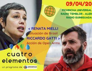 Cuatro Elementos del 09/04/2020 Open Arms y crisis política en Brasil