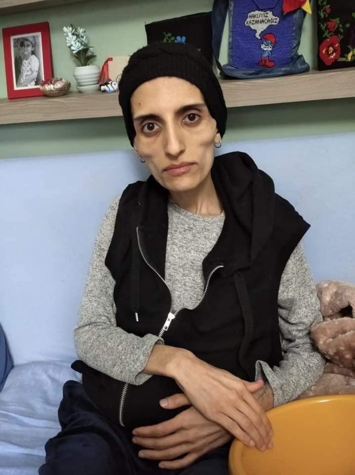 Helin Bolek durante loscipero della fame