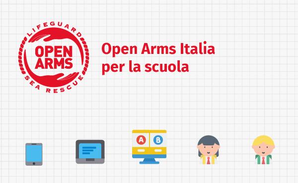 Open Arms raccoglie fondi per la didattica a distanza
