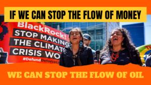 Forderung, dass sich Kapitalgeber von fossilen Brennstoffen und Abholzung distanzieren