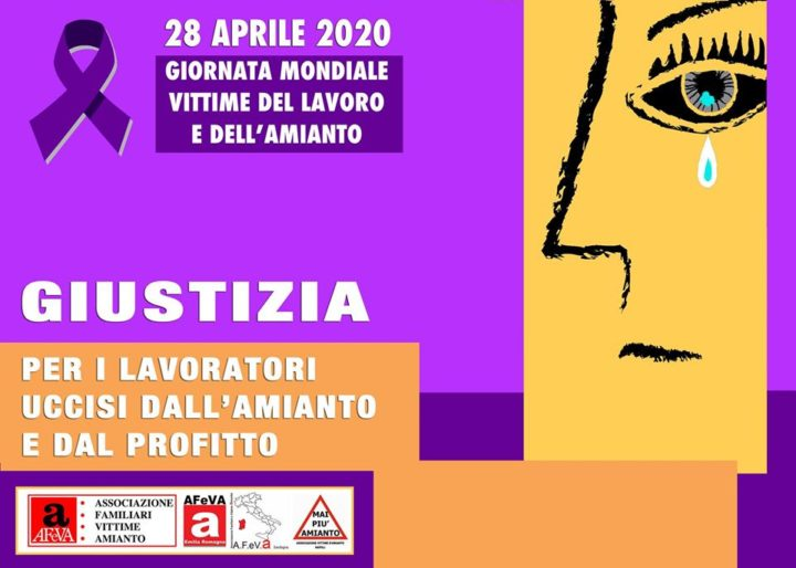 Amianto, giornata mondiale per vittime senza giustizia
