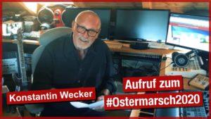 Alternativer Ostermarsch 2020: zu Hause und virtuell