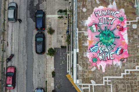Das Coronavirus, erzählt von Street Art-KünstlerInnnen rund um die Welt