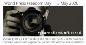 Giornata mondiale della libertà di stampa per Assange