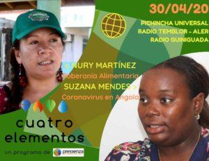 Cuatro Elementos del 30/04/2020 Coronavirus en Angola y Soberanía Alimentaria
