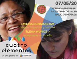 Cuatro Elementos del 07/05/2020 Inmigrantes en España y pueblos originarios frente a la COVID-19