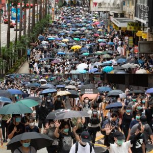 Hong Kongers Protest against the National Security Law in spite of the Pandemic