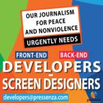 Necessitem desenvolupadors web per sostenir el nostre Periodisme de Pau i Noviolència
