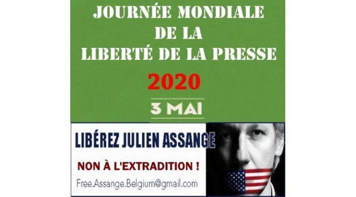 """El 3 de Mayo, Día Mundial de la Libertad de Prensa, vamos a gritar: """"¡Liberen a Julian Assange!"""""""
