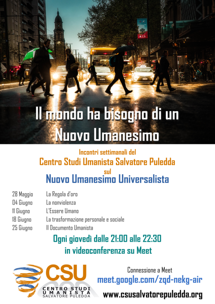 """""""Il mondo ha bisogno di un Nuovo Umanesimo"""", incontri settimanali del Centro Studi Umanisti"""