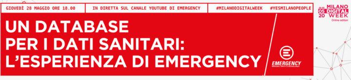 "Milano digital week, webinar: ""Un database per i dati sanitari. L'esperienza di Emergency"""