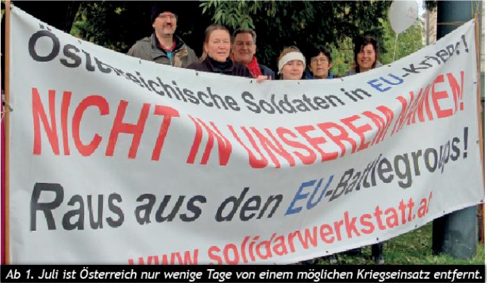 JA zu Frieden und Neutralität! NEIN zu EU-Battlegroups und EU-SSZ/PESCO!
