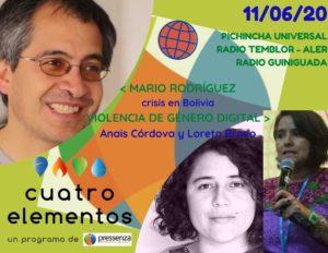 Cuatro Elementos del 11/06/2020 Bolivia y Violencia de género digital