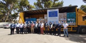 The European Union and WHO deliver vital medical supplies to East Jerusalem hospitals for COVID-19 response
