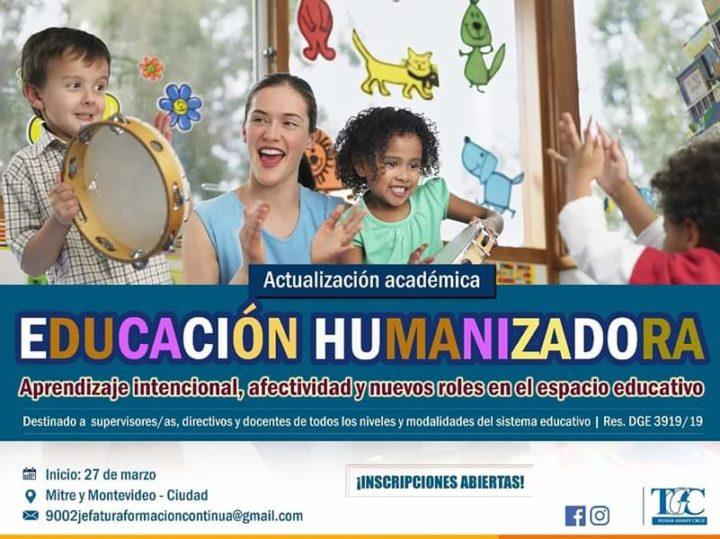 Começou a Atualização Acadêmica  em Educação Humanizadora no Instituto Tomás Godoy Cruz em Mendoza