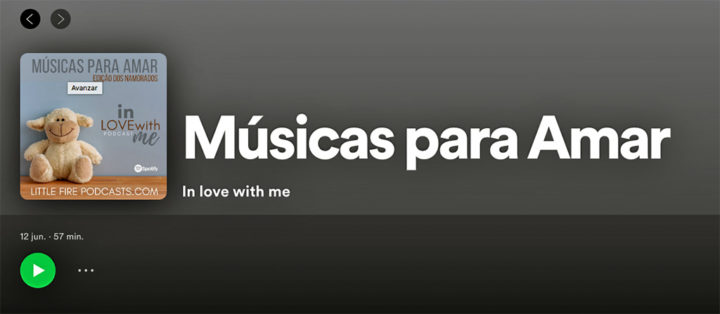 In Love With Me 12|06 – Músicas para amar
