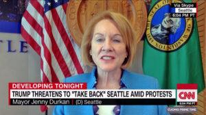 Trump critica a la alcaldesa de Seattle por comparar la «toma anarquista» de la urbe con el Verano del Amor del 67