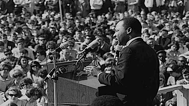 Dr Martin Luther King, Jr., speaking against the Vietnam War, St. Paul Campus, the University of Minnesota in St. Paul, April 27, 1967.