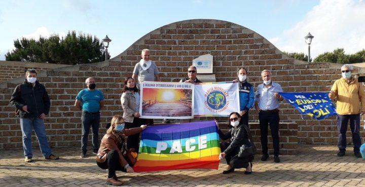 Ad Arghillà la Targa ricordo della Seconda Marcia Mondiale per la Pace e la Nonviolenza