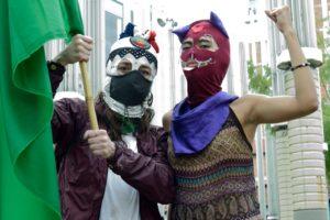 Plantón por las mujeres en Medellín