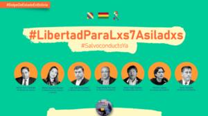 Lanzan Campaña internacional por la libertad de los siete asilados en la embajada de México en Bolivia