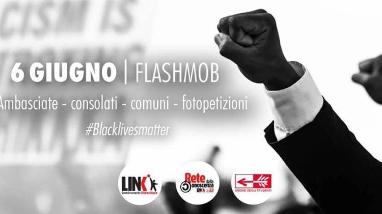 locandina delle mobilitazioni italiane Black Lives Matter