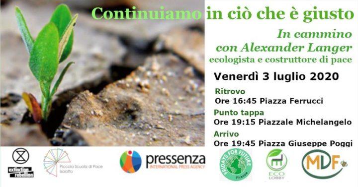 Firenze: in cammino ricordando Alex Langer