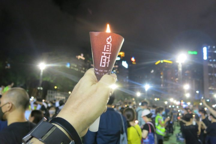 Hong Kong 2020, commemorazione per immagini del massacro di Piazza Tienanmen