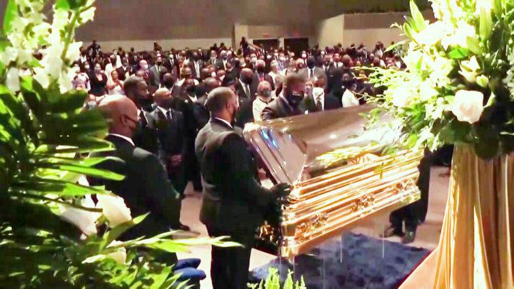 George Floyd fue sepultado, dos semanas después de que su muerte a manos de la policía provocara un levantamiento global
