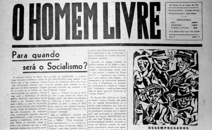 """Arte e antifascismo no jornal """"O Homem Livre""""(1933-1934)"""