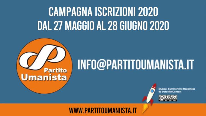 Molto più di un partito…  Campagna di iscrizioni 2020