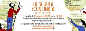 2 giugno, consegna delle proposte della scuola sconfinata al sindaco di Milano