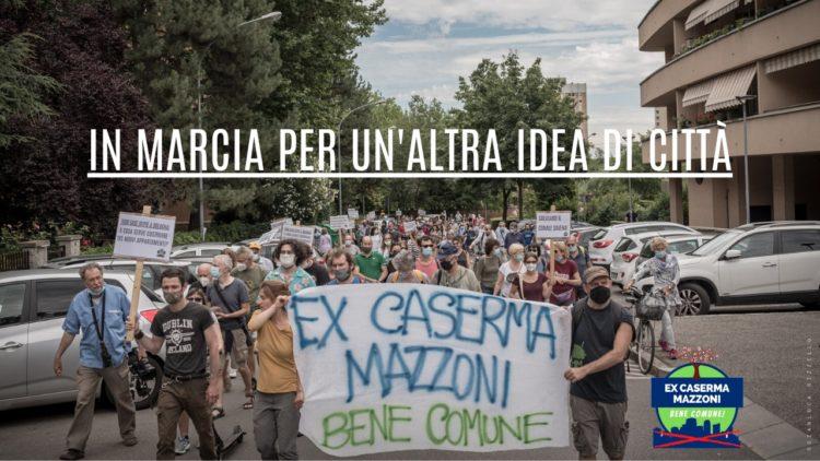 """foto dalla prima passeggiata del comitato """" Ex Caserma Mazzoni bene comune"""""""