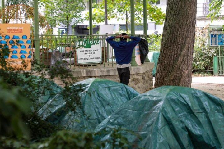 Unaccompanied Migrant Children Sleeping Outside in Paris