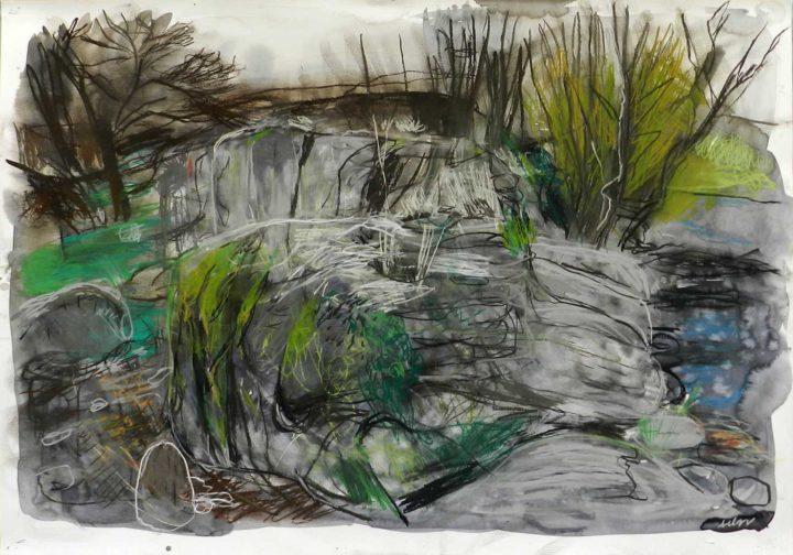 4-pastel y carbón sobre papel-100×70 cm