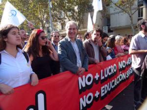 Críticas de Mario Aguilar, Presidente del Colegio de Profesores de Chile, al Ministro de Educación